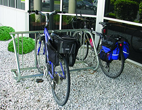 Kirby Built Products Galvanized PLUS-Coated Steel Traditional Bike Rack -Single-Sided - Fits 5 (5 Bike Single)
