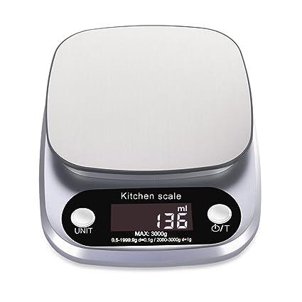 Balanza de cocina digital, balanza multifunción para productos de consumo diario con pantalla LCD iluminada