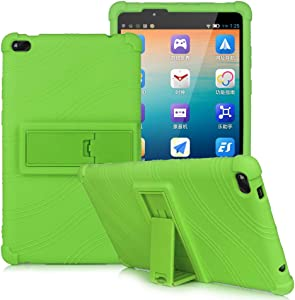 HminSen Colorful Silicone Cover for Lenovo Tab E8 Kids Case, Light Weight [Anti Slip] Shockproof Protective Cover for Lenovo TAB E8 TB-8304F TB-8304F1 Tablet Case (Green)