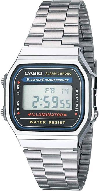 Casio A158WA-1DF - Reloj digital de cuarzo para hombre con correa ...
