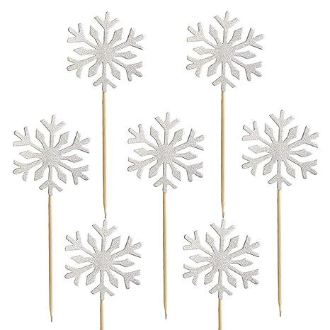 Amazon.com: Copo de nieve para cupcakes, 60 piezas ...