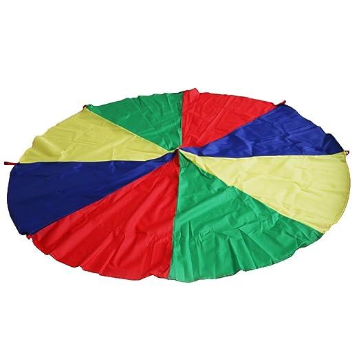 2 opinioni per 6.5 Piedi 8 Maniglie Bambini Bambino Arcobaleno Formazione Paracadute Gioco