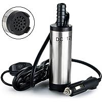 flintronic Bomba de Combustible 12V, Bomba de Drenaje de Agua (Aceite, Transferencia de Auto Diesel o Recarga de Combustible) para Autocaravanas, Caravanas, Motores y Marinas y Lanchas Rápidas