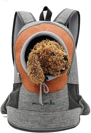 Oferta amazon: PETCUTE Mochila para Perros pequeños Bolsa Transporte de Perros Gatos Mochila para Mascotas Cachorros para Viajar Ciclismo M