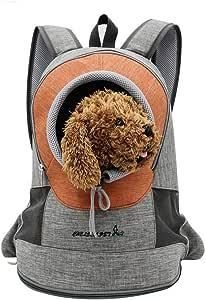 Oferta amazon: PETCUTE Mochila para Perros pequeños Bolsa Transporte de Perros Gatos Mochila para Mascotas Cachorros para Viajar Ciclismo L