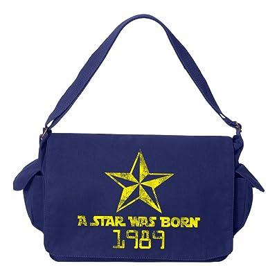 Tenacitee A Star Was Born 1989 Brushed Canvas Messenger Bag