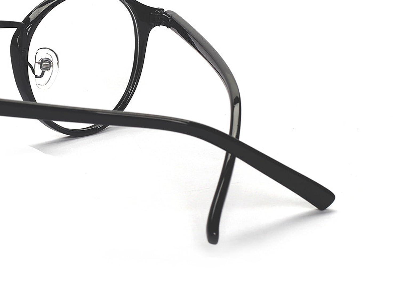 9090bbee0745b Amazon.com  Caixia Women s SJDL-2214 Plastic Frame Round 48mm Eyeglasses  Small Size (glossy black)  Clothing