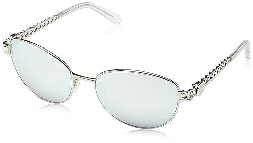 Just Cavalli - Gafas de sol Aviador JC593S, Silver Frame / Silver Lens