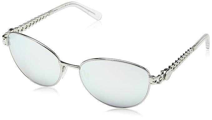 Just Cavalli - Gafas de sol Aviador JC593S, Silver Frame ...