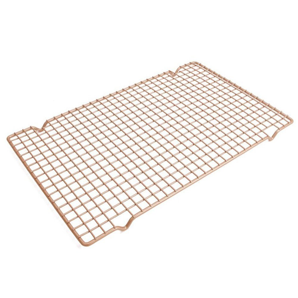 """MyLifeUNIT Carbon Steel Baking Rack, Nonstick Cooling Rack for Baking, 10"""" x 16"""""""