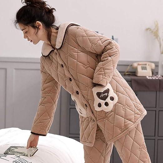 Bayrick Pijama Mujer Algodon Invierno,Pijama de Invierno chándal ...