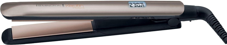 Remington S8540 Keratin Protect - Plancha de Pelo, Cerámica, Digital, Keratina y Aceite de Almendras, Resultados Profesionales, Marrón Oro