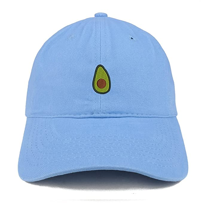 Trendy Apparel Shop Avocado Embroidered Low Profile Cotton Cap Dad Hat -  Carolina Blue 5240e37be6a