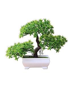 heaven2017 Mini Tree Bonsai Tree Artificial Potted Plant Ornament Home Decor Green