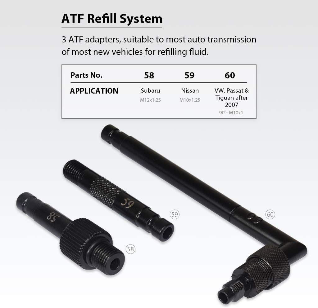 Yemtuls tools 7425 ATF Filler Adapter Compatible with Infiniti 7-Speed Includes O-Ring
