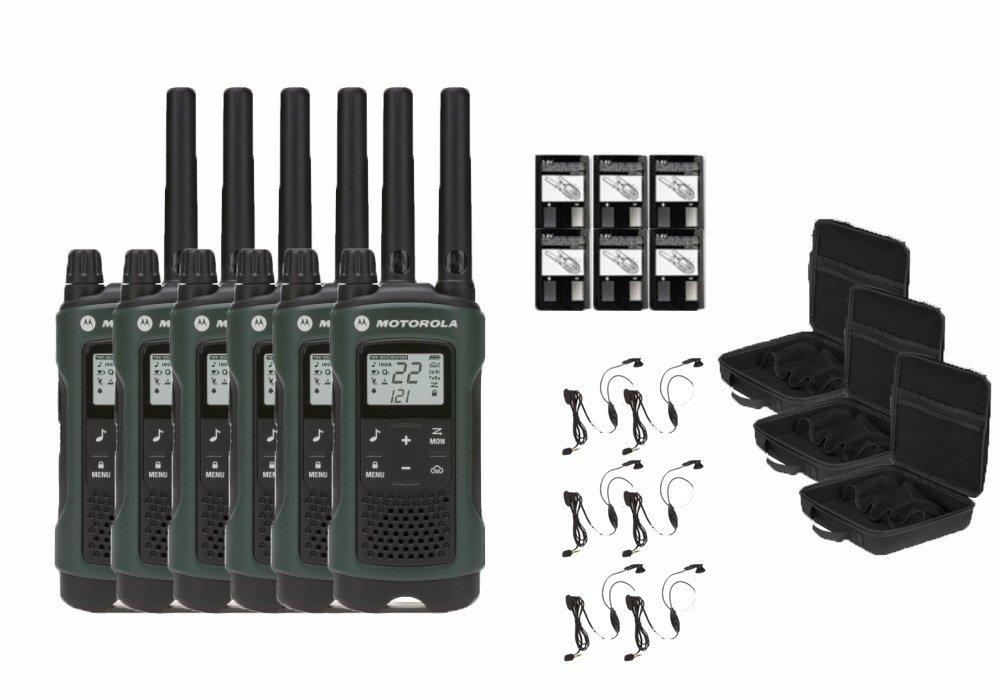 Motorola Talkabout T465 Two-Way Radios / Walkie Talkies - Weatherproof 22 Channels PTT IVOX Flashlight 6-PACK