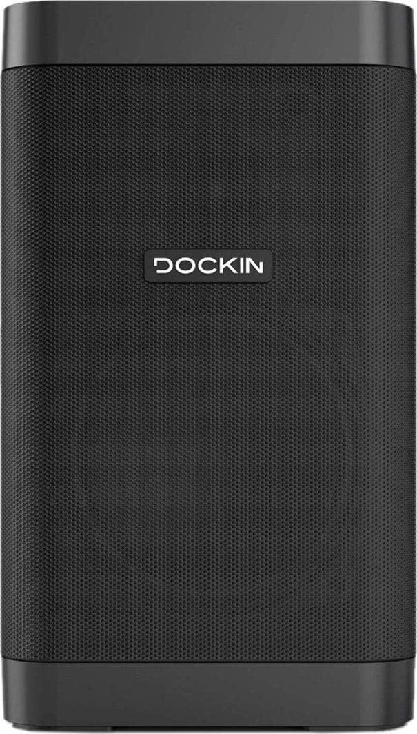 Altavoz Portátil Inalámbrico DOCKIN D Fine Cube, 25 Vatios, Bluetooth 4.2, Impermeable IP55, Crossover de Alta Fidelidad y Estéreo, 12 Horas de Batería, Compacto, Powerbank, Diseñado en Alemania