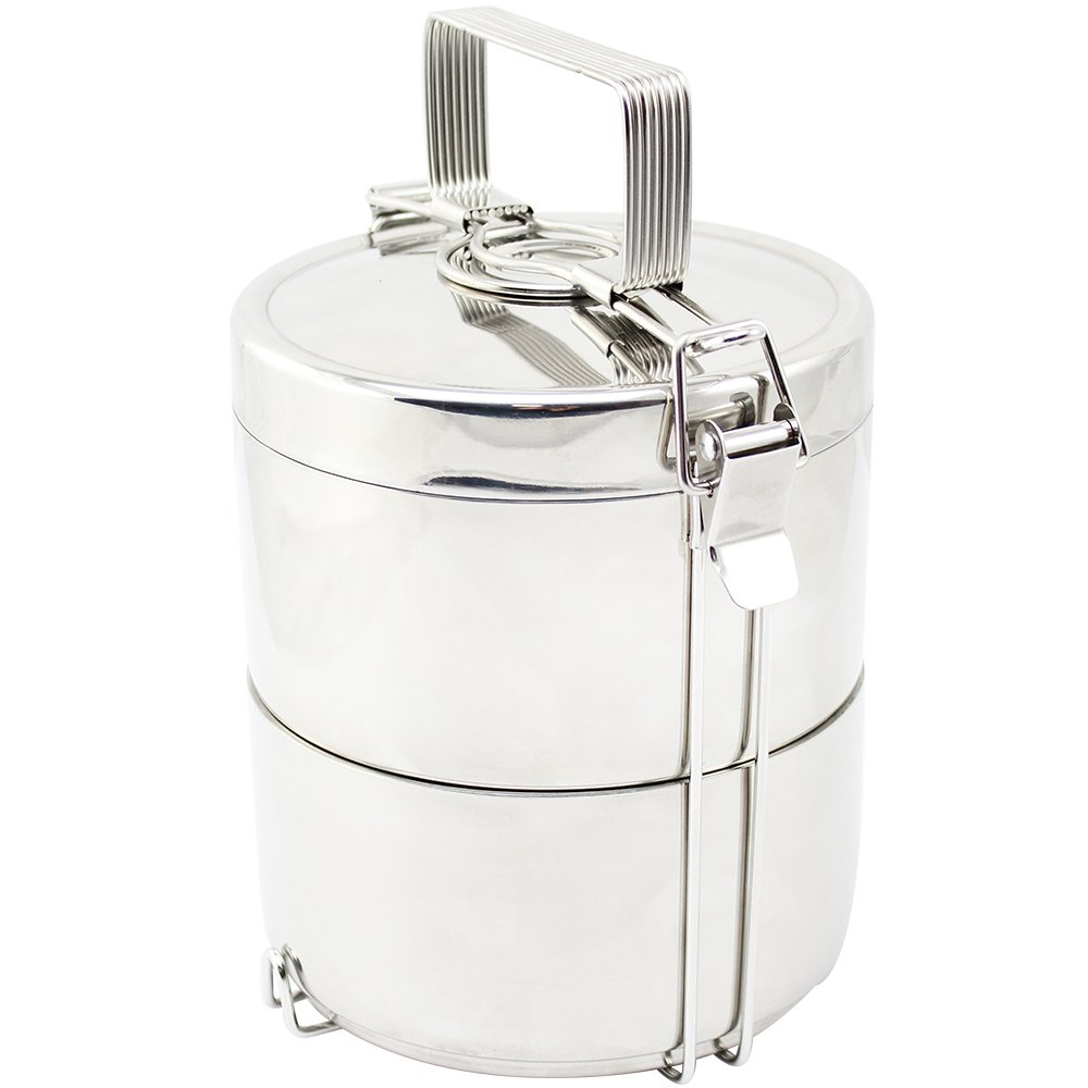 COM-FOUR ® 2-Layer Food Flask Stainless Steel Food Container, 1.5 Litres