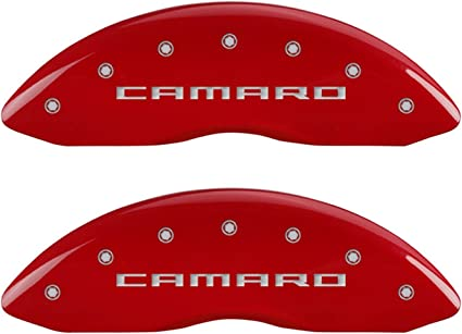 MGP Caliper Covers 12199SDRTRD Caliper Cover with Red Powder Coat Finish, Set of 4