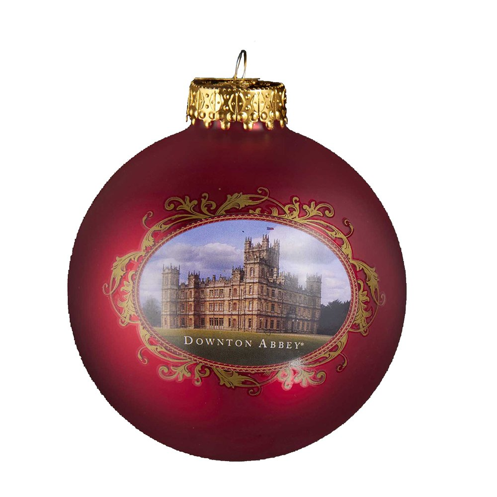 Glass christmas ball ornaments - Amazon Com Downton Abbey Castle Glass Ball Ornament 80mm Home Kitchen