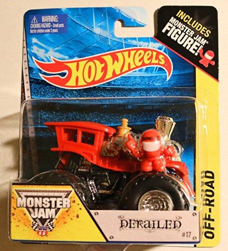 Hot Mini Truck Wheels (Derailed #17 Train Hot Wheels Off-Road Monster Jam 2014 Includes Monster Truck Jam Mini Figure 1:64 Scale)