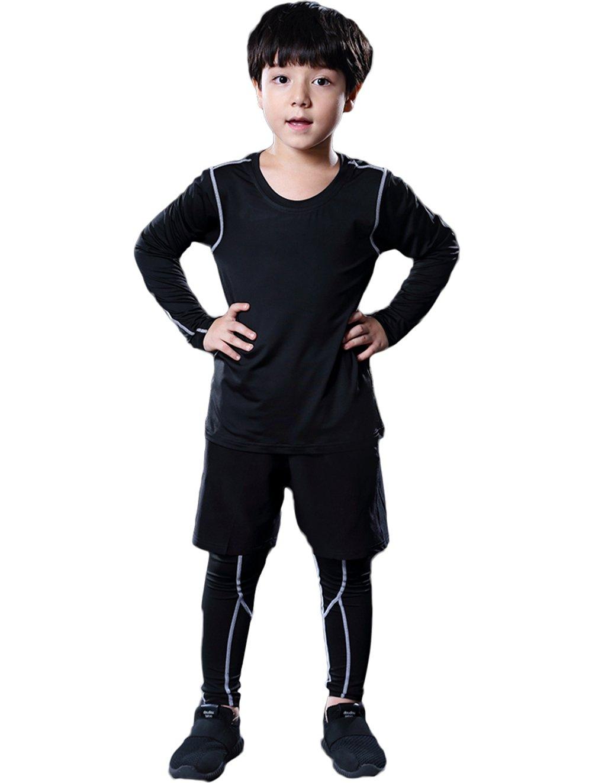 LANBAOSI Hockey Long Sleeve Shirt Pants Short Boys Girls Athletic 3 Piece Suits
