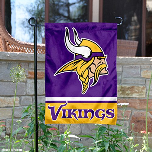 WinCraft Minnesota Vikings Double Sided Garden Flag (Flag Window Vikings Minnesota)