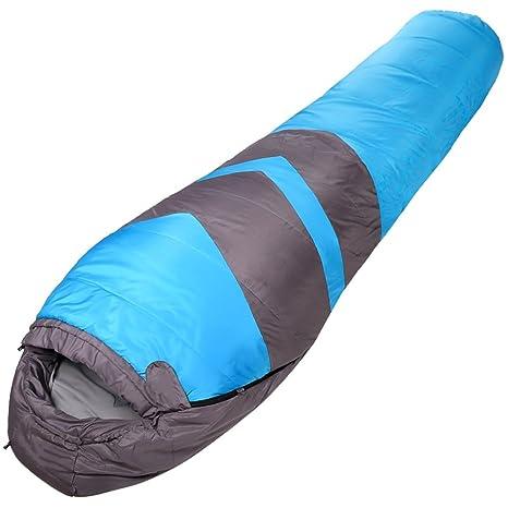 LJHA shuidai Saco de Dormir Momia/Algodón/Adult Acampar al Aire Libre Espesar Saco