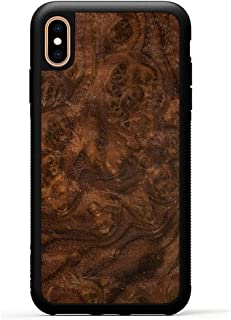 product image for Carved - iPhone Xs Max - Luxury Protective Traveler Case - Unique Real Wooden Phone Cover - Rubber Bumper - Walnut Burl