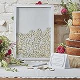 Wedding Guest Book Alternative Heart Drop Box Wooden Frame Wedding Guest Book Shadow Box for Bridal Shower Gifts Wedding Gifts