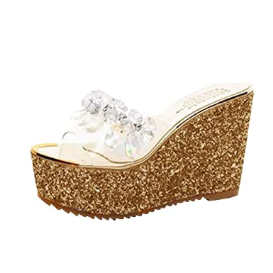 362d47b5f281a7 DENER❤ Women Ladies Platform Wedge Sandals