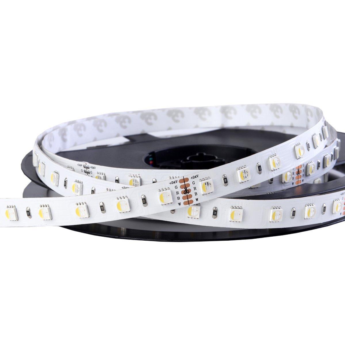 Iluminize LED-Streifen RGBW 4 in 1   sehr hochwertiger LED-Streifen RGBW tageslichtweiß (6000K) mit 60 LEDs pro Meter, hoch selektiert, 24V, 19,2W pro Meter (6000K IP33 Rolle 5m)