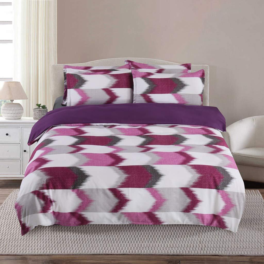 Beyonds Pure Lattice Luxury 3 Piece Bed Set Deep Pockets Bedding Set Includes x1 Duvet Cover x2 Pillowcases - Soft Polyster Fabric