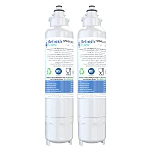 Refresh Replacement for LG LT800P, ADQ73613401 and Kenmore Elite 46-9490, 9490, 469490, ADQ73613402 Refrigerator Water Filter (2 Pack)