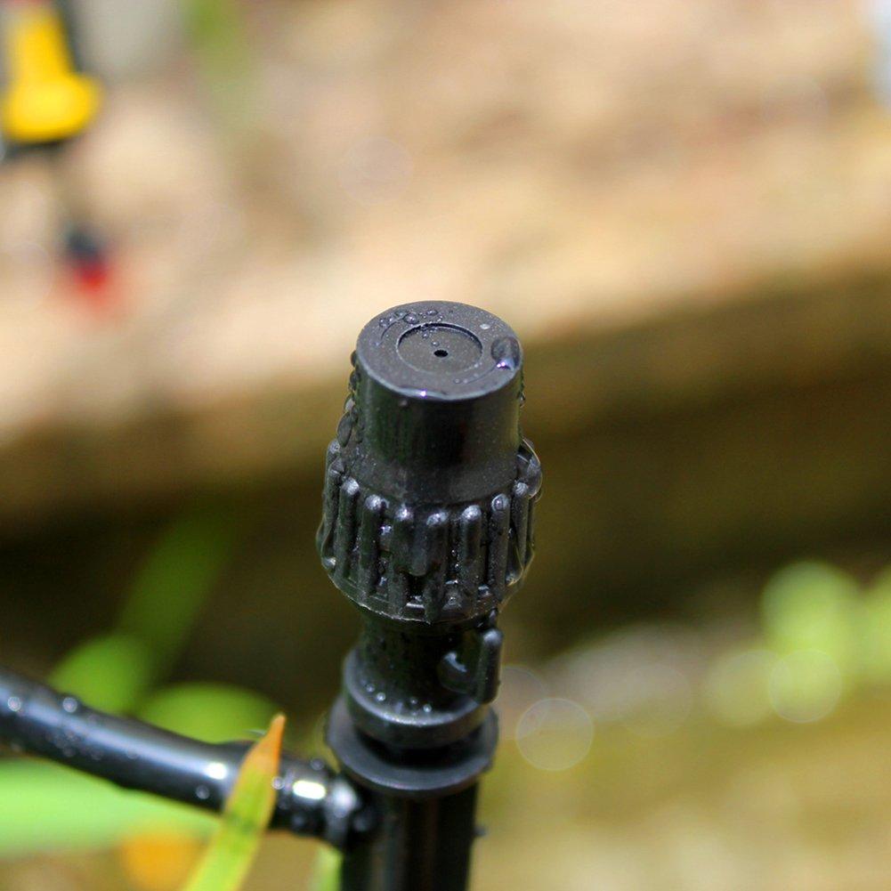 iBaste Jardín Boquilla Aspersor de Agua Boquilla Dripper Set, Riego Misting Micro Drip Head con Conector, 5 unidades: Amazon.es: Jardín