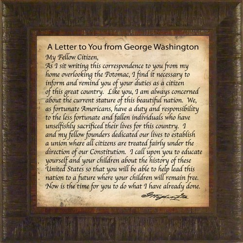 A Letter To You From George Washington By Todd Thunstedt for sale  Delivered anywhere in USA