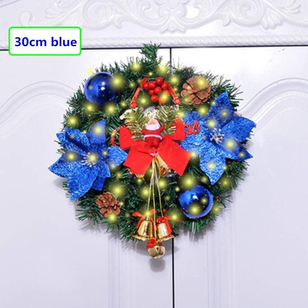Guirnalda la Navidad Decoraciones, 30cm/45cm Chimeneas Escaleras adornadas las guirnaldas la guirnalda la batería luces LED iluminado bola la flor las chucherías del árbol Navidad festiva D é cor: Amazon.es: Deportes y