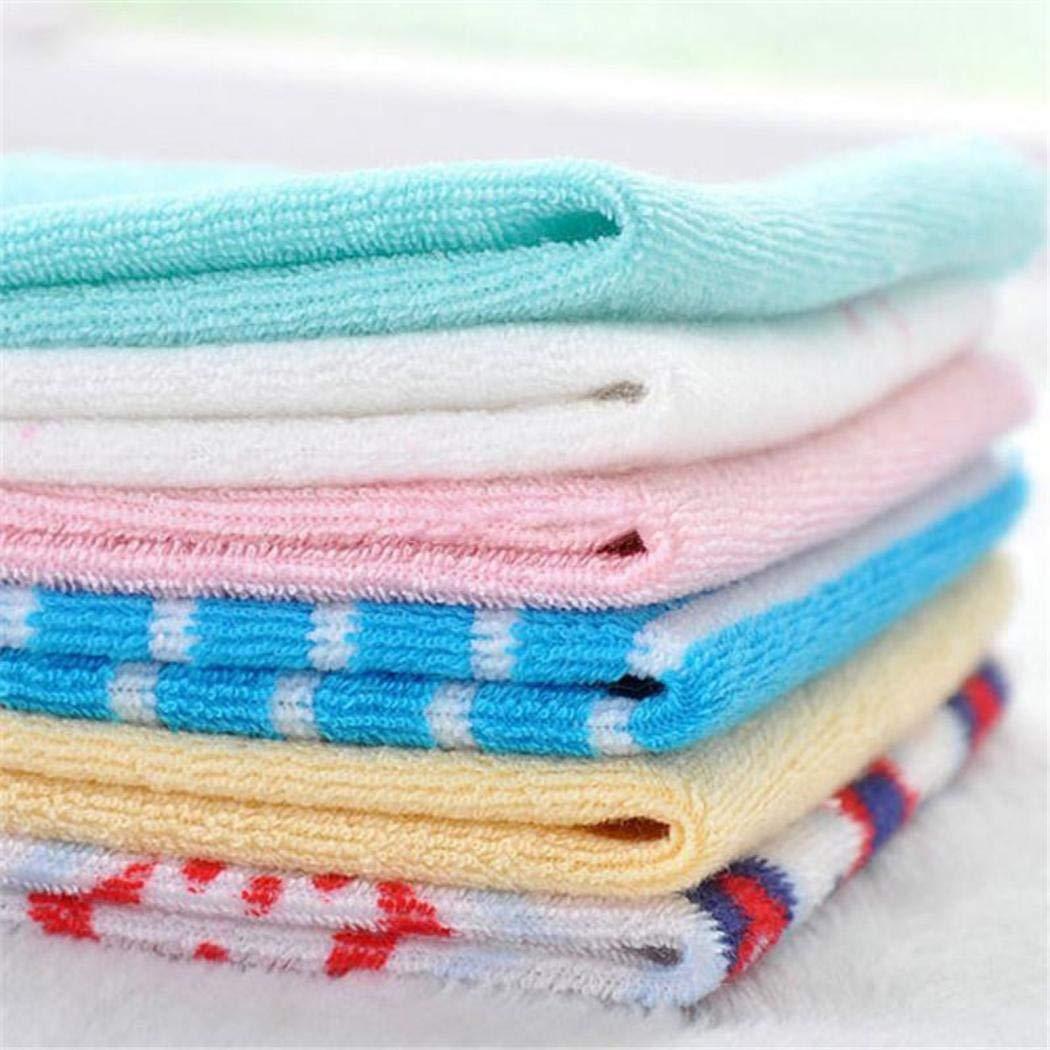 Yuikled 8 Piezas Toalla Beb/é Algodon Suave Forma Cuadrada Toallas De Mano Lindo Estampado Toallas de lavabo Multicolor