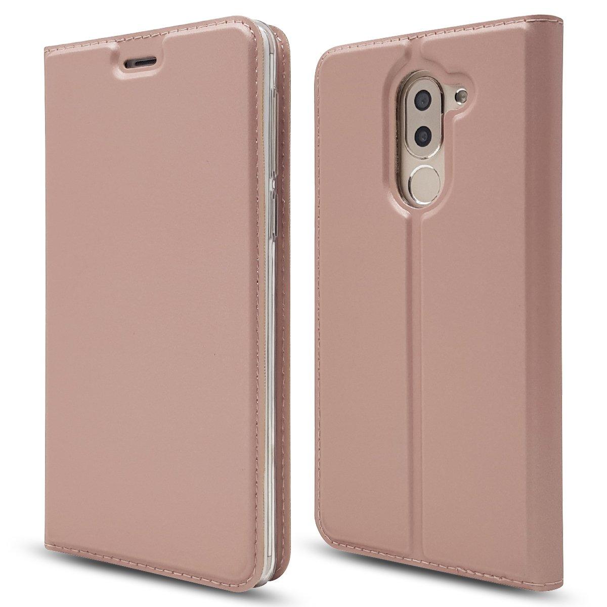 PU Cuero Flip Funda Magn/ético Carcasa con 9 Ranuras para Tarjetas y Funci/ón de Soporte DENDICO Funda para Huawei Honor 8X Negro