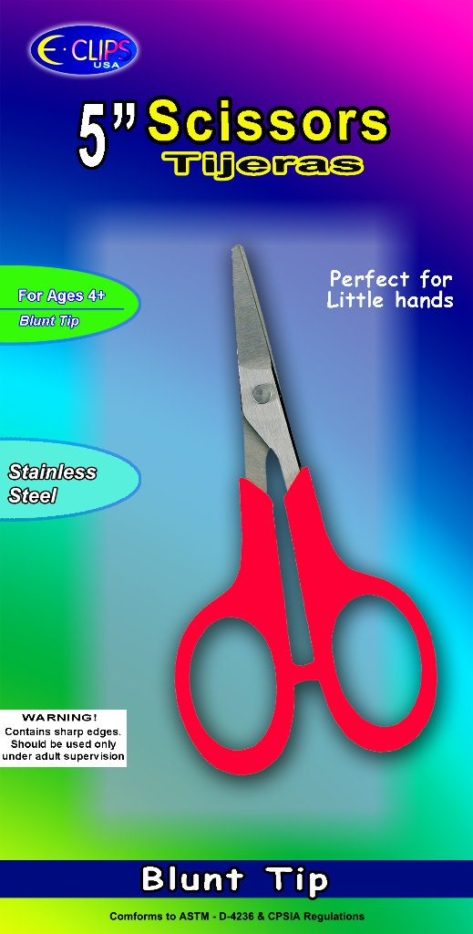 5 Inch Scissors with Blunt Tip 48 pcs sku# 1857746MA by E.clips USA