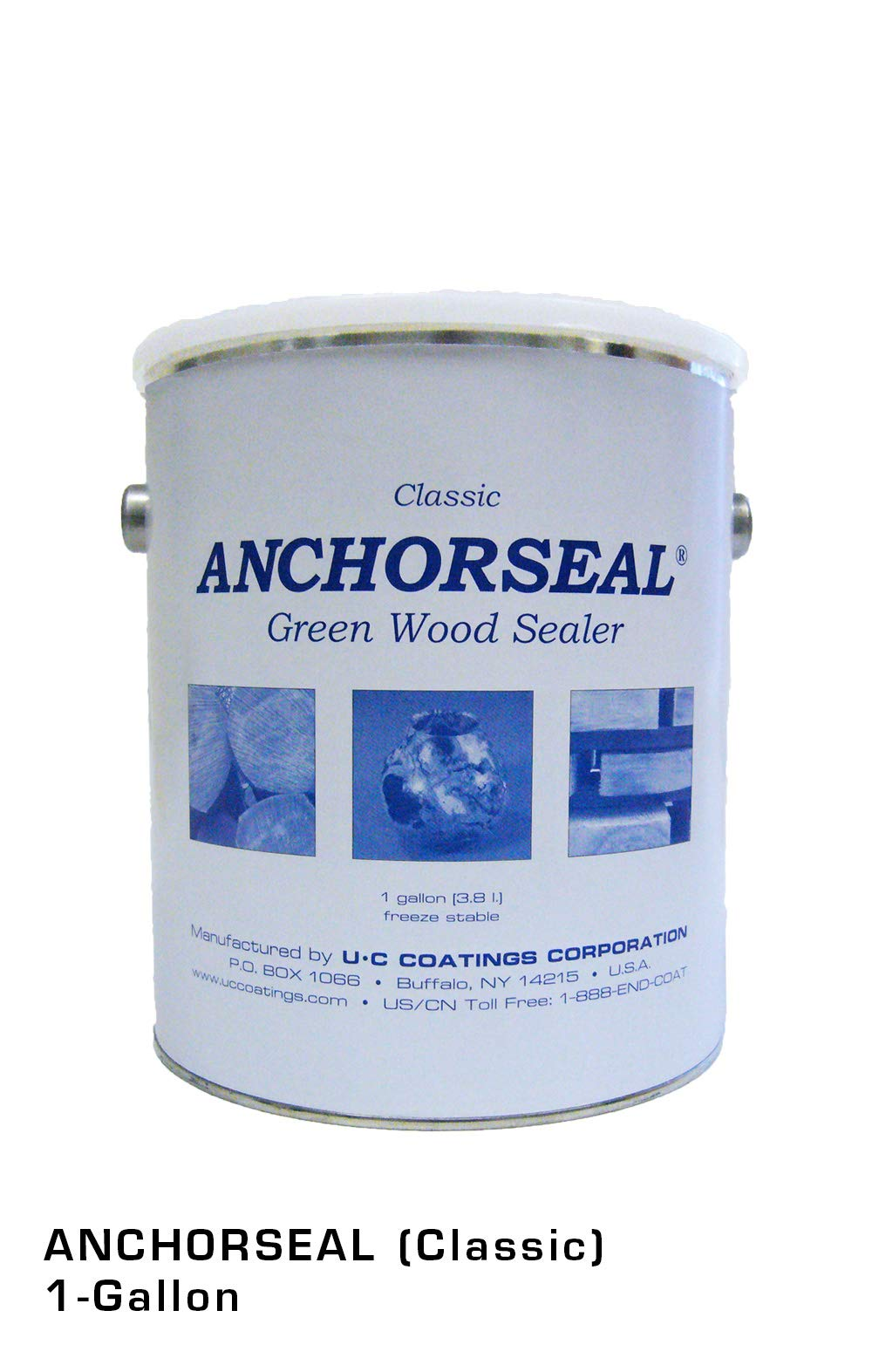 ANCHORSEAL Classic Log & Lumber End Sealer - Water Based Wax Emulsion, Prevents up to 90% of End Checking on Cut Ends of Hardwood & Softwood ... (1 Gallon) by ANCHORSEAL (Image #1)