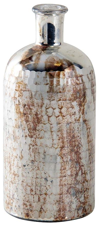 Jarrón botella de cristal antiguo