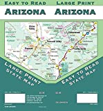 Arizona Large Print, Arizona State Map