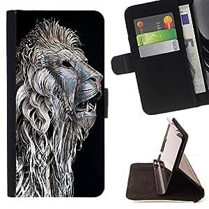 Dragon Case- Caja de la carpeta del caso en folio de cuero del tir¨®n de la cubierta protectora Shell FOR Samsung Galaxy S3 III I9300 I9308 I737- Lion Aztec