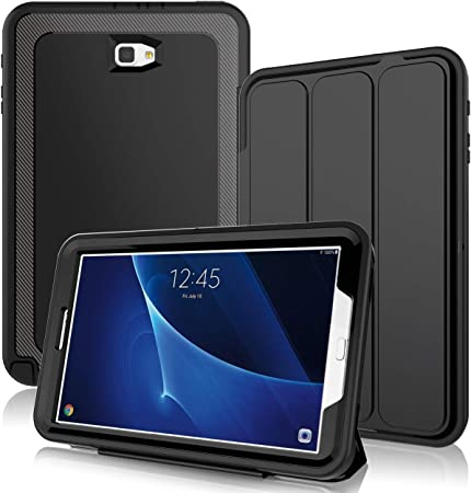 Amazon Com Dunno Samsung Galaxy Tab A 10 1 Case Heavy Duty Full Body Rugged Protective Case For Galaxy Tablet Sm T580 T585 T587 No S Pen Version With Auto Sleep Wake Up Stand Folio