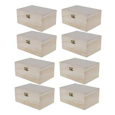 Amazon Com Monkeyjack 8 Pieces Plain Unfinished Natural Wood