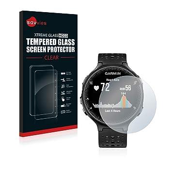 Savvies Protector Pantalla Cristal Templado Compatible con Garmin Forerunner 235 - Dureza 9H