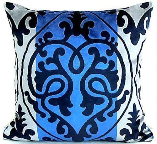 Amazon Com Velvet Damask Throw Pillow Cover 20x20 Luxe