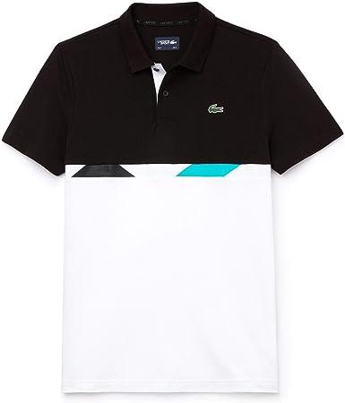 Lacoste YH9459-Polo Hombre Negro Noir/Blanc-Blanc-Papeete 4XL ...