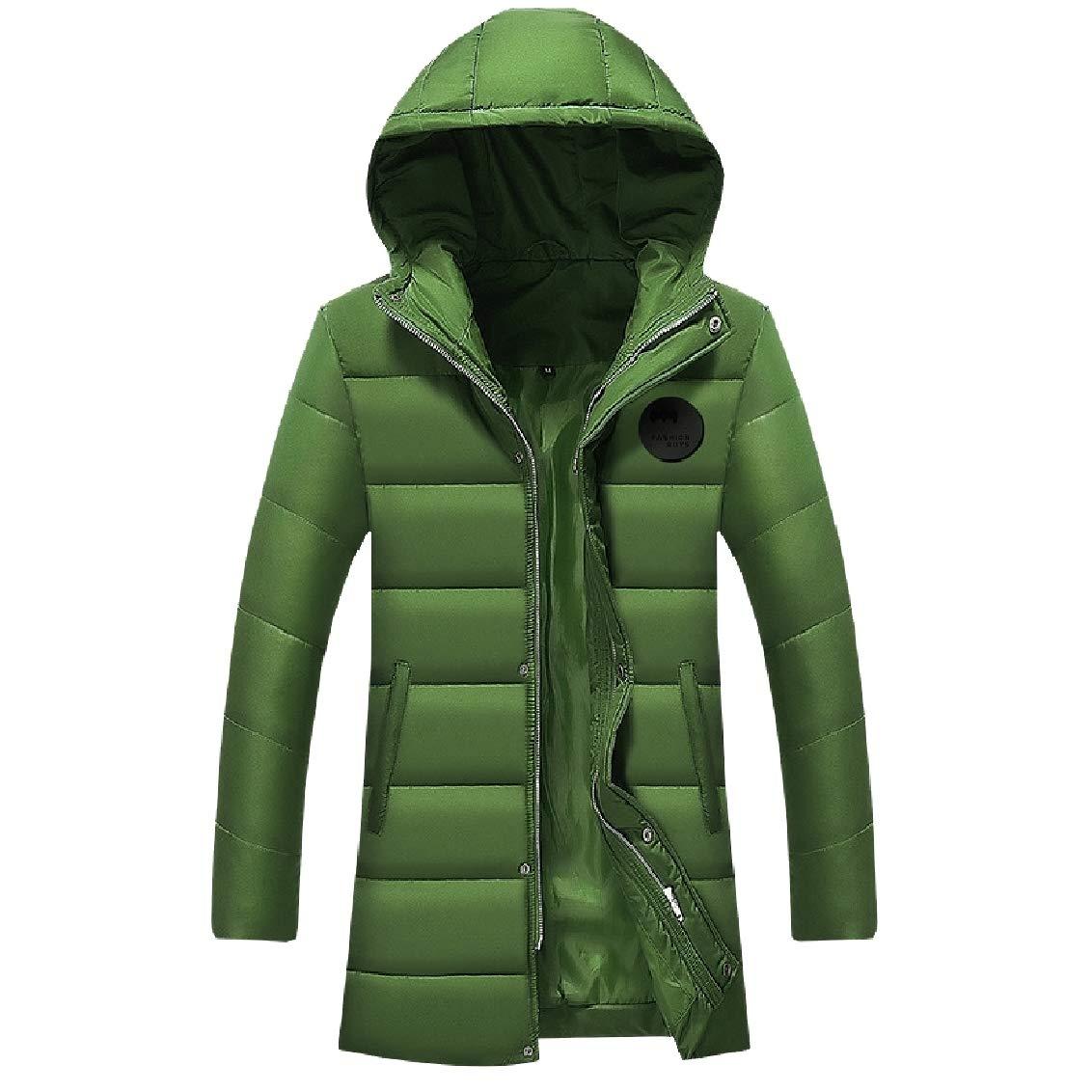 FreelyMen Windproof Oversize Warm Hooded Outdoor Down Jackets